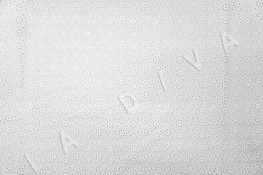 Шитье белого цвета с цветочной вышивкой рис-2