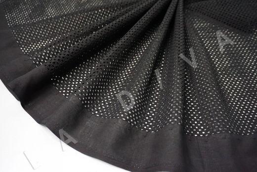 Шитье черного цвета с геометрической вышивкой рис-4